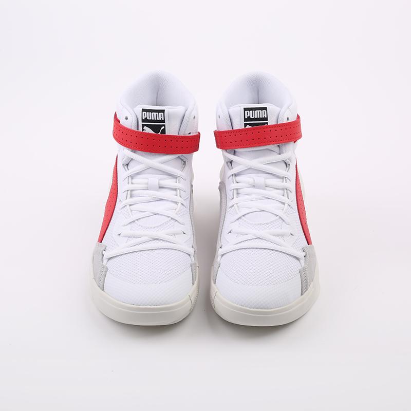 мужские белые, красные  кроссовки puma sky modern 19404203 - цена, описание, фото 3