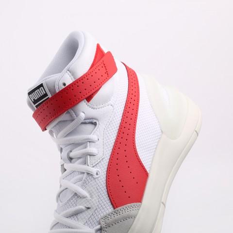мужские белые, красные  кроссовки puma sky modern 19404203 - цена, описание, фото 6
