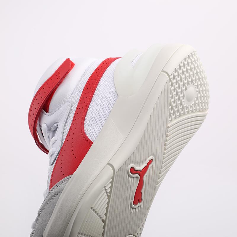 мужские белые, красные  кроссовки puma sky modern 19404203 - цена, описание, фото 7