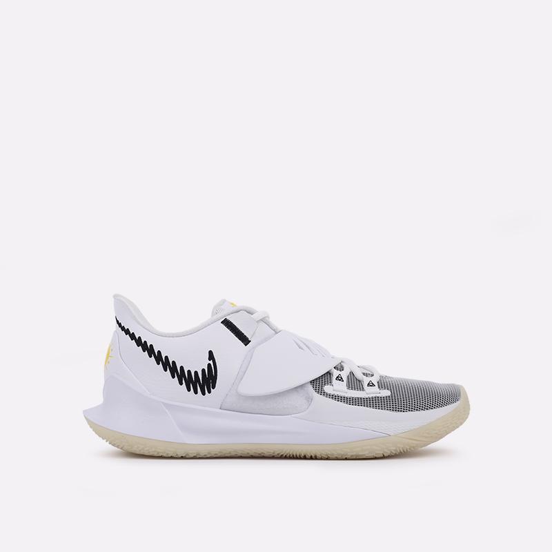 мужские белые  кроссовки nike kyrie low 3 CJ1286-100 - цена, описание, фото 1