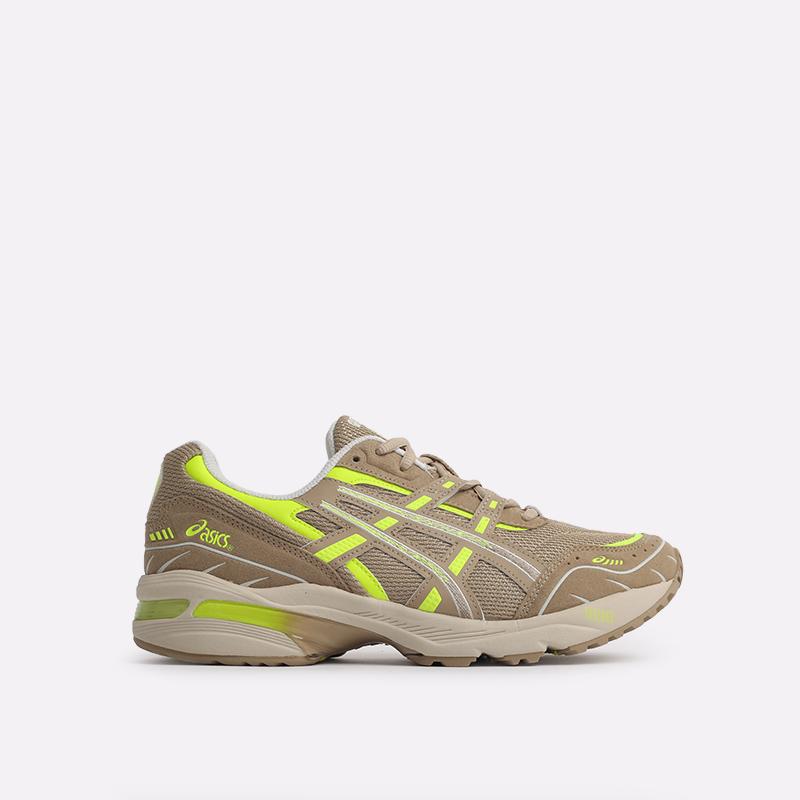 мужские бежевые  кроссовки asics gel-1090 1201A040-201 - цена, описание, фото 1