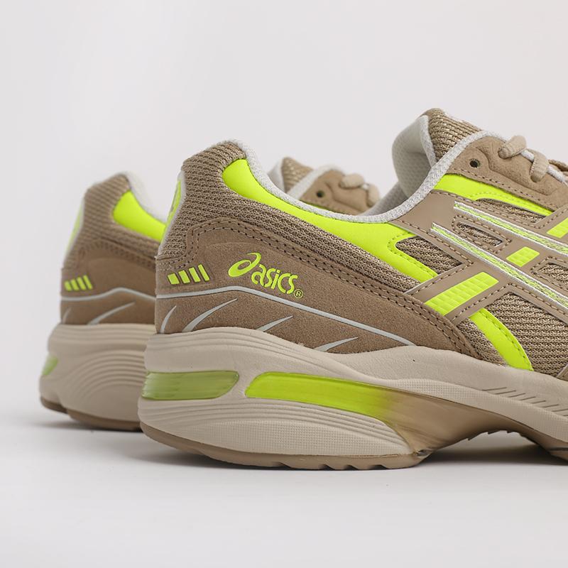 мужские бежевые  кроссовки asics gel-1090 1201A040-201 - цена, описание, фото 5