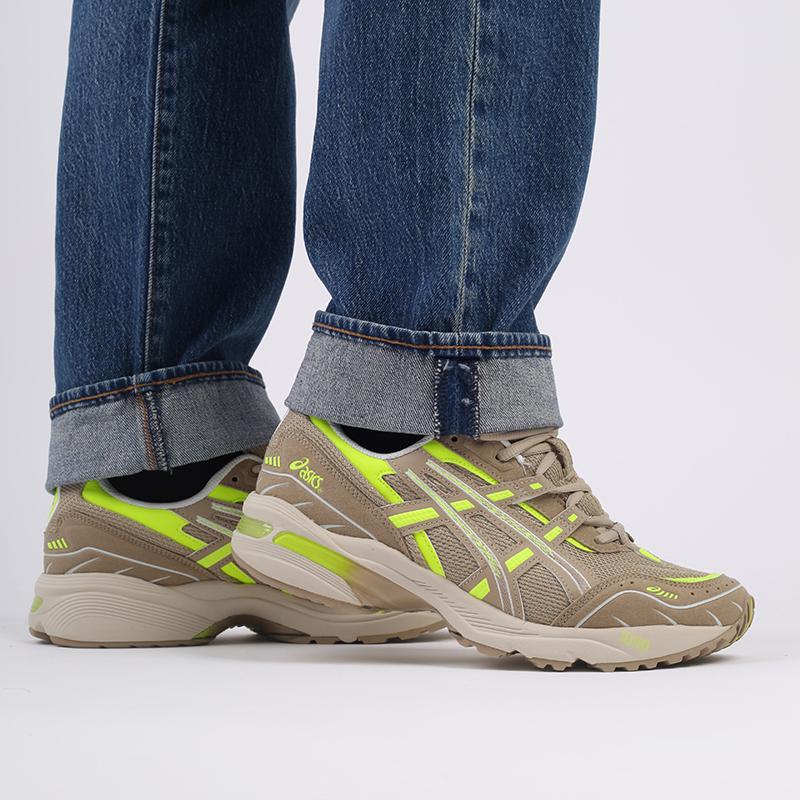 мужские бежевые  кроссовки asics gel-1090 1201A040-201 - цена, описание, фото 9