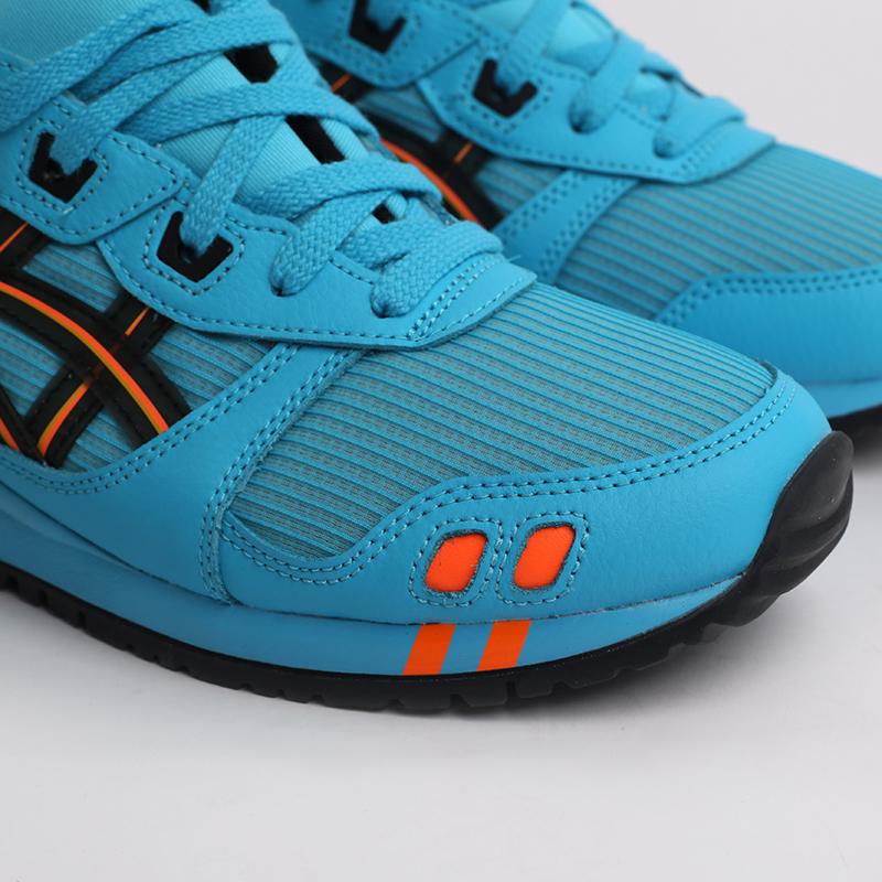 синие  кроссовки asics gel lyte iii og 1201A052-400 - цена, описание, фото 3