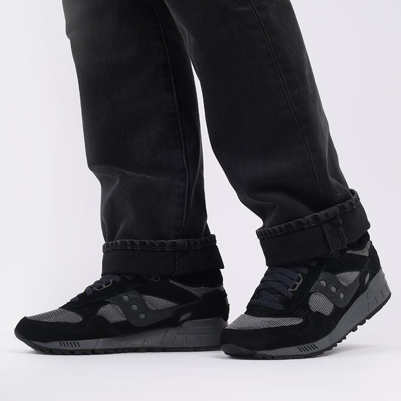 мужские черные, серые  кроссовки saucony shadow 5000 S7040431 - цена, описание, фото 7