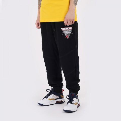 мужские черные  брюки jordan flight fleece trousers CZ1209-010 - цена, описание, фото 1