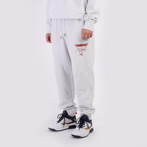 мужские серые  брюки jordan flight fleece trousers CZ1209-094 - цена, описание, фото 1