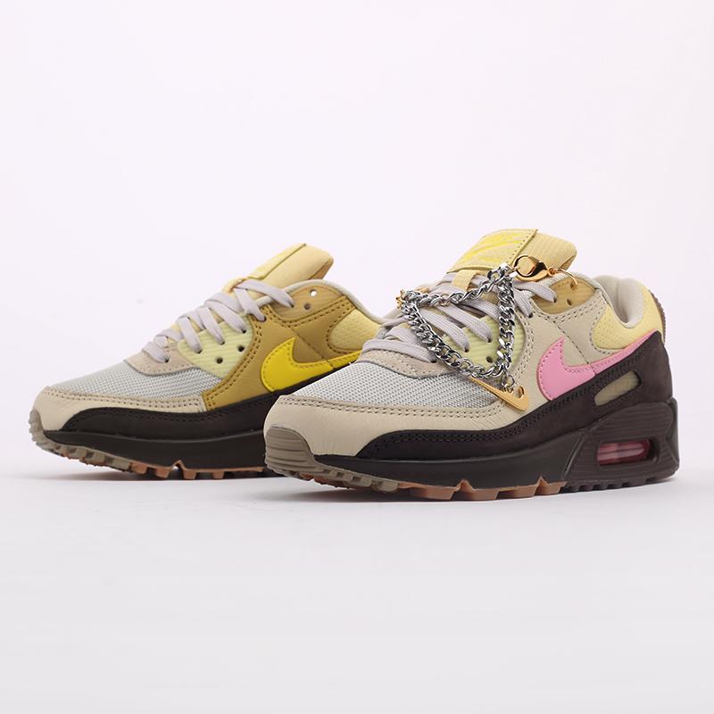 женские бежевые  кроссовки nike wmns air max 90 CZ0469-200 - цена, описание, фото 2