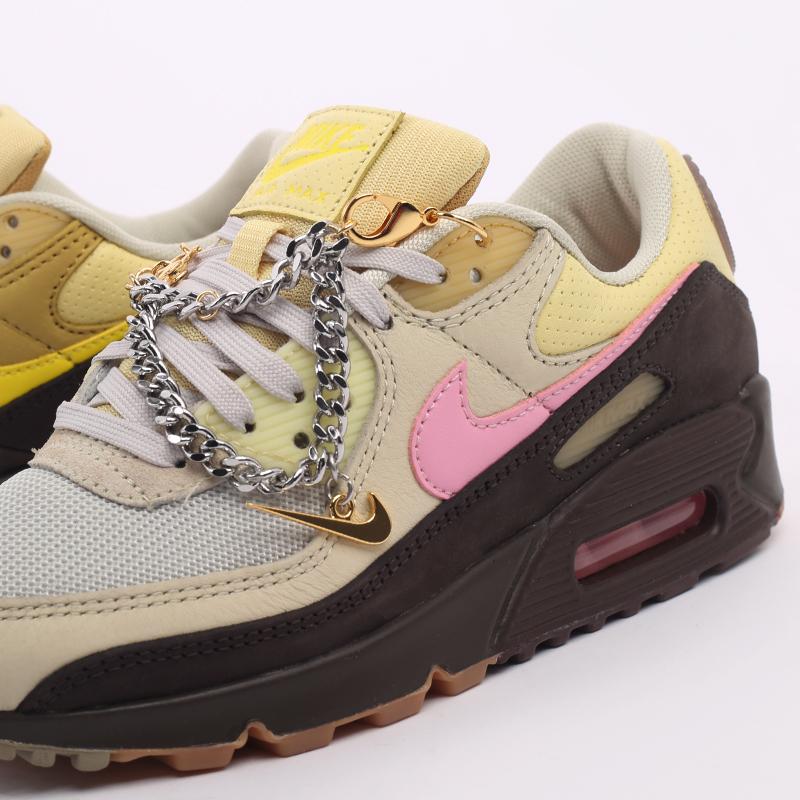 женские бежевые  кроссовки nike wmns air max 90 CZ0469-200 - цена, описание, фото 6