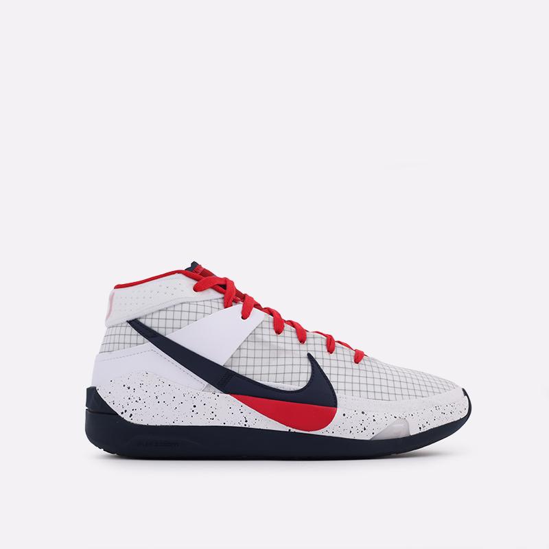мужские белые  кроссовки nike kd13 CI9948-101 - цена, описание, фото 1