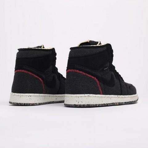 черные  кроссовки jordan 1 high zoom air CW2414-001 - цена, описание, фото 4