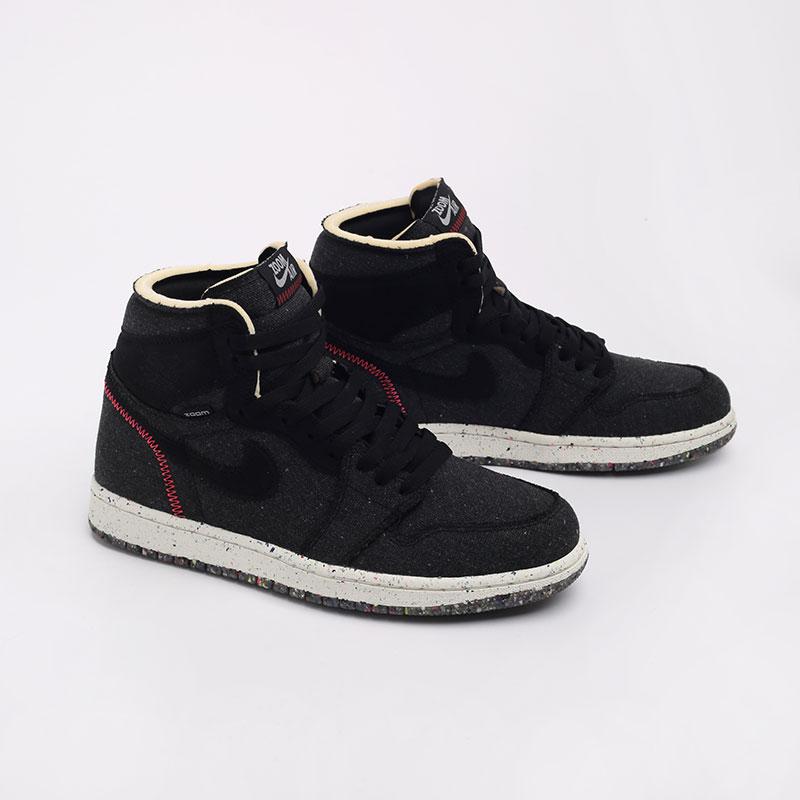 черные  кроссовки jordan 1 high zoom air CW2414-001 - цена, описание, фото 3