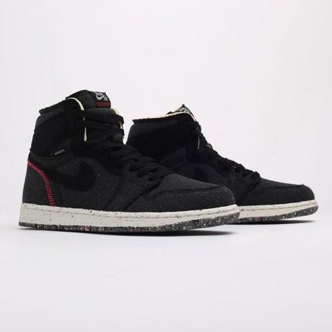черные  кроссовки jordan 1 high zoom air CW2414-001 - цена, описание, фото 2