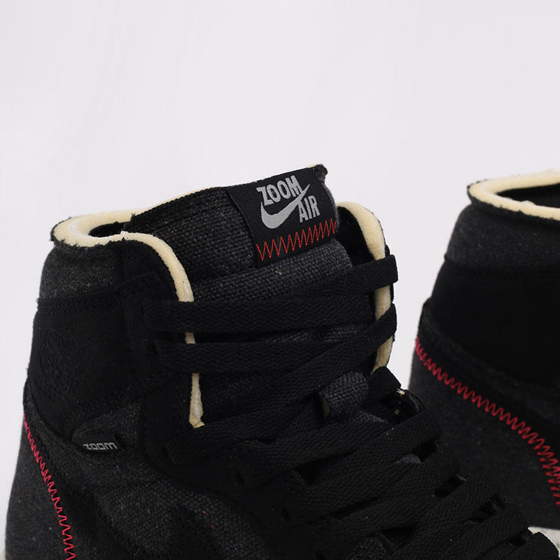черные  кроссовки jordan 1 high zoom air CW2414-001 - цена, описание, фото 6
