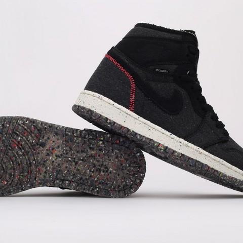 черные  кроссовки jordan 1 high zoom air CW2414-001 - цена, описание, фото 5