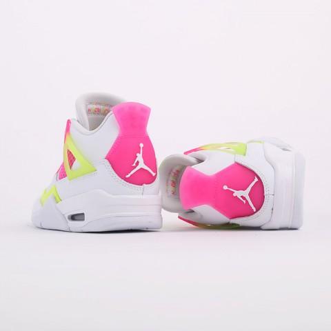 женские белые  кроссовки jordan 4 retro se (gs) CV7808-100 - цена, описание, фото 8