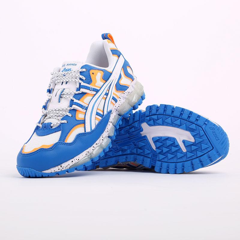 мужские синие  кроссовки asics gel-nandi 360 1021A325-100 - цена, описание, фото 4