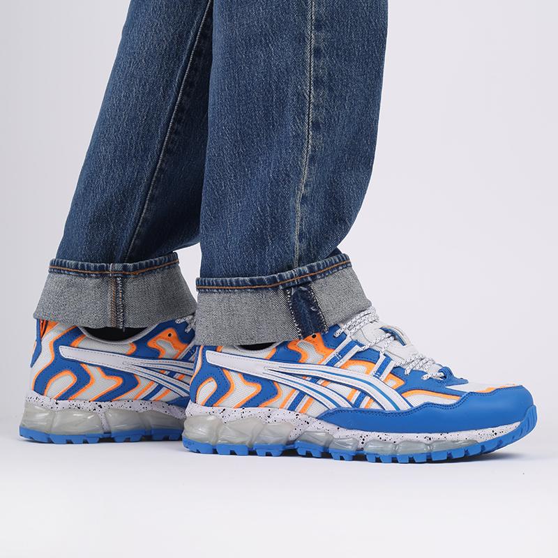 мужские синие  кроссовки asics gel-nandi 360 1021A325-100 - цена, описание, фото 9