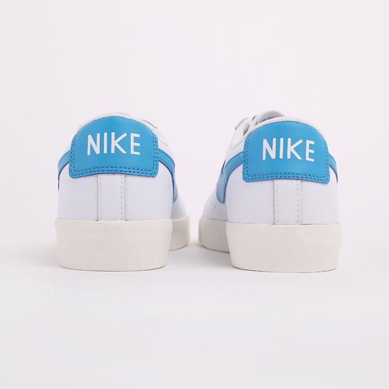 мужские белые  кроссовки nike blazer low leather CI6377-104 - цена, описание, фото 5