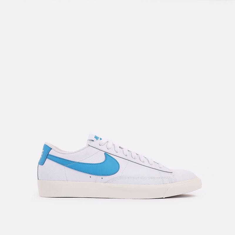 мужские белые  кроссовки nike blazer low leather CI6377-104 - цена, описание, фото 1