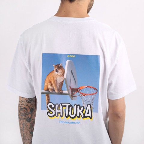 мужскую белую  футболка sneakerhead shtuka puma Sa-puma-white - цена, описание, фото 2