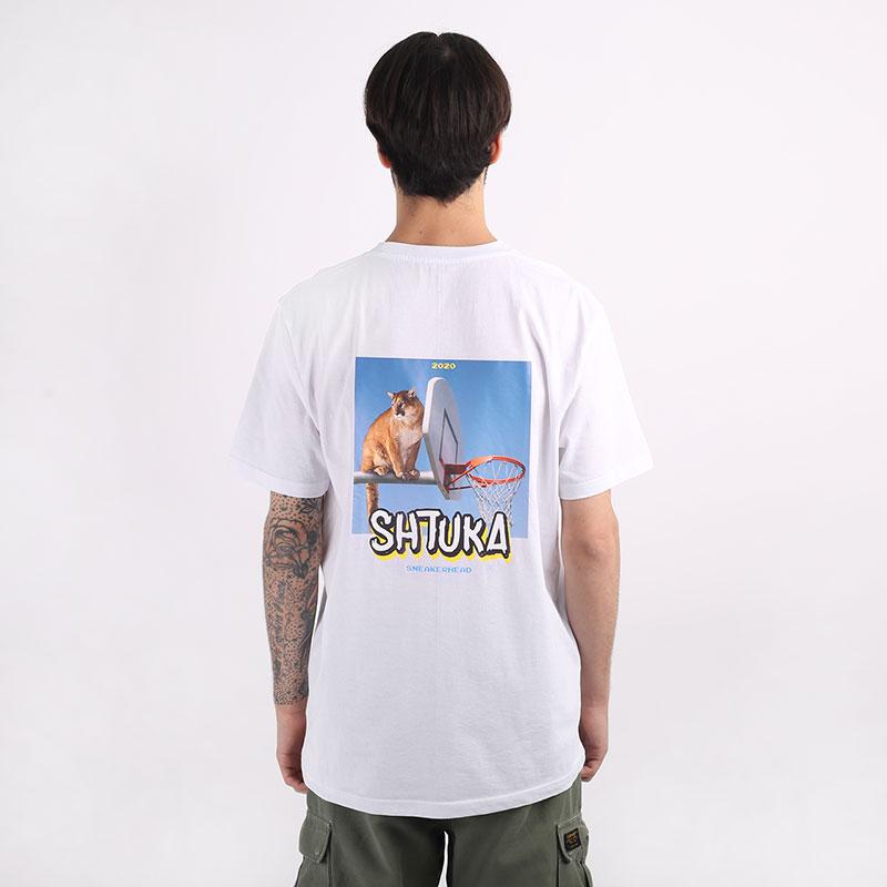 мужскую белую  футболка sneakerhead shtuka puma Sa-puma-white - цена, описание, фото 1