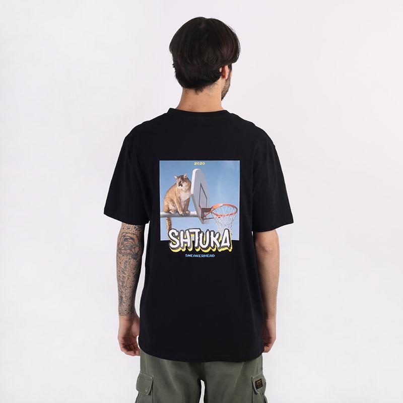 мужскую черную  футболка sneakerhead shtuka puma Sa-puma-black - цена, описание, фото 1
