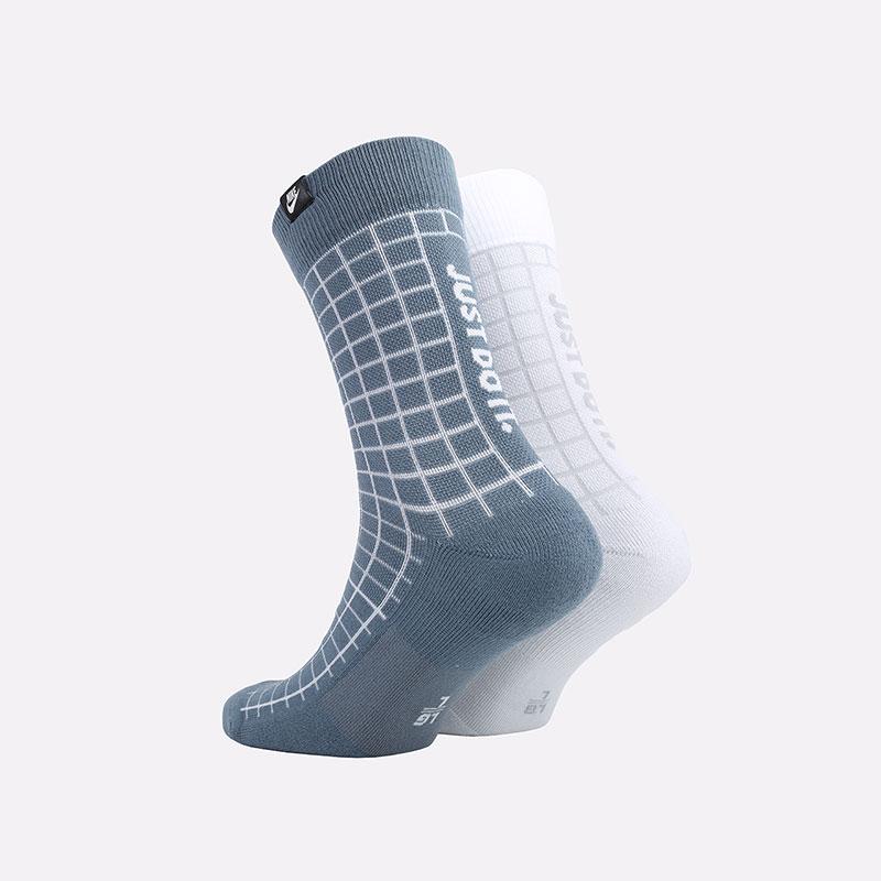 мужские синие носки Nike Sneakr Sox 2 Pairs CK5590-904 - цена, описание, фото 2