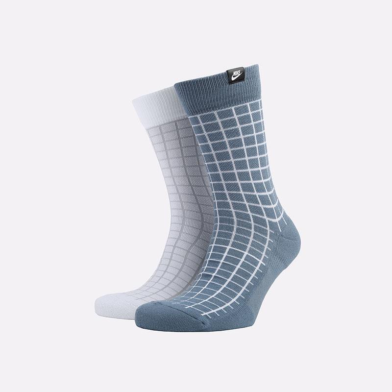 мужские синие носки Nike Sneakr Sox 2 Pairs CK5590-904 - цена, описание, фото 1