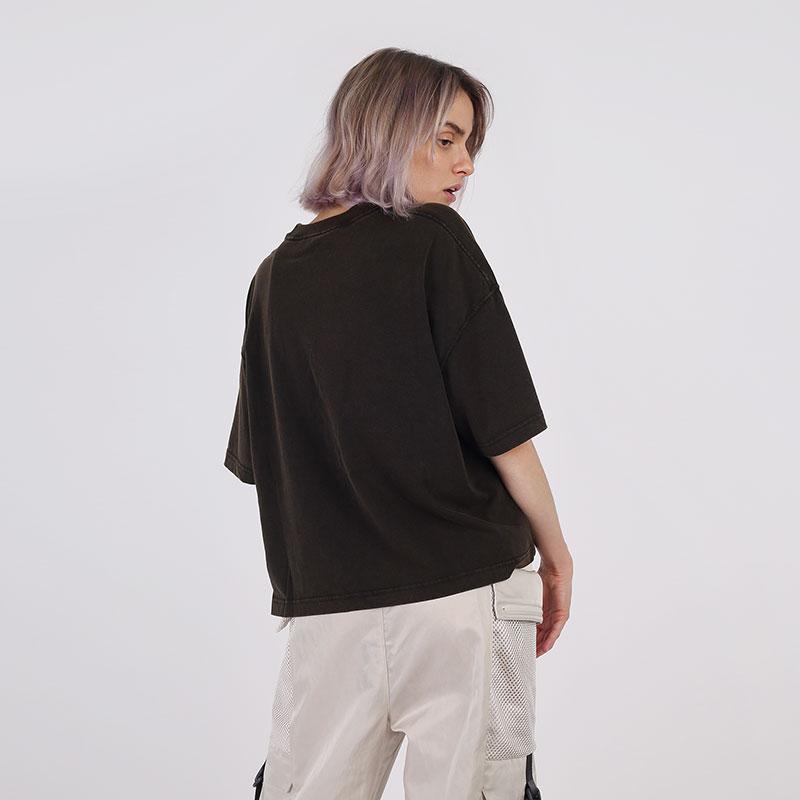 женскую чёрную  футболка jordan essentials short-sleeve boxy CZ4139-010 - цена, описание, фото 2