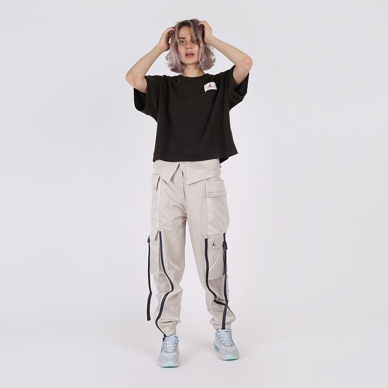 женскую чёрную  футболка jordan essentials short-sleeve boxy CZ4139-010 - цена, описание, фото 4