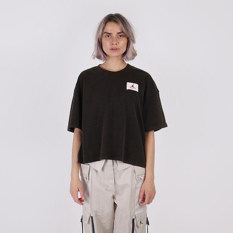 женскую чёрную  футболка jordan essentials short-sleeve boxy CZ4139-010 - цена, описание, фото 1