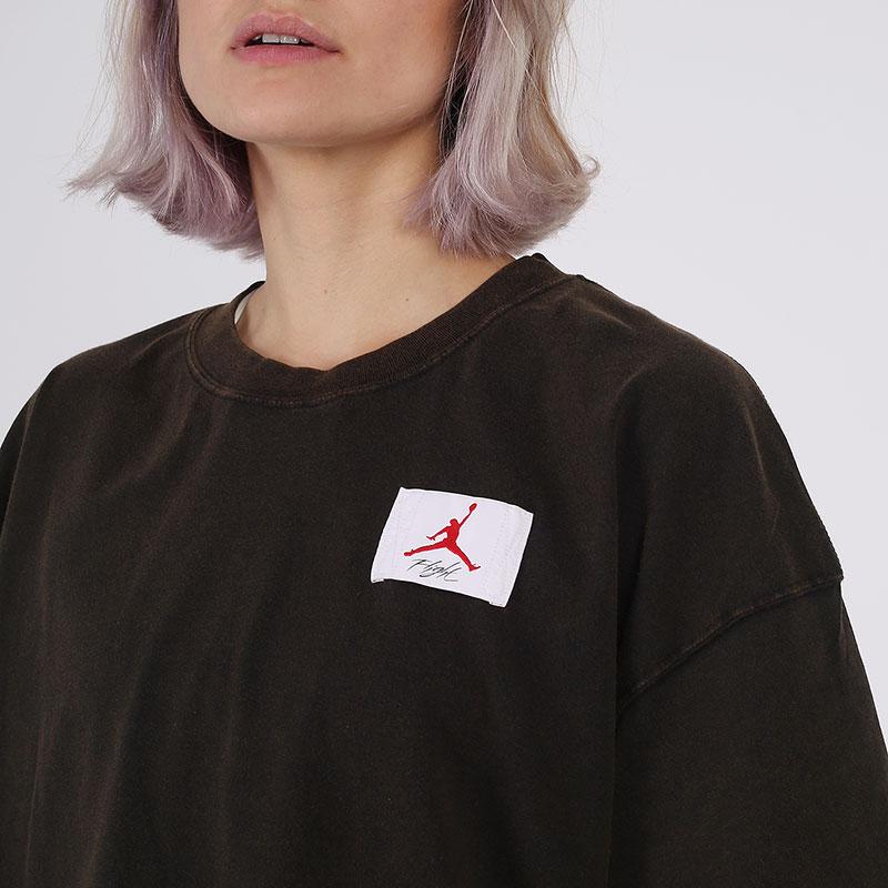 женскую чёрную  футболка jordan essentials short-sleeve boxy CZ4139-010 - цена, описание, фото 3