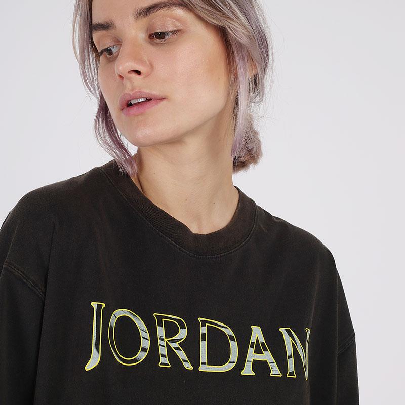 женскую чёрную  футболка jordan utility t-shirt CV7443-010 - цена, описание, фото 3