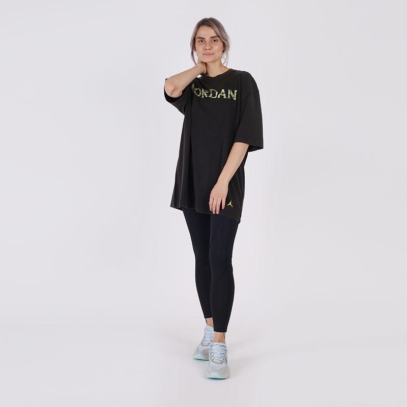 женскую чёрную  футболка jordan utility t-shirt CV7443-010 - цена, описание, фото 5