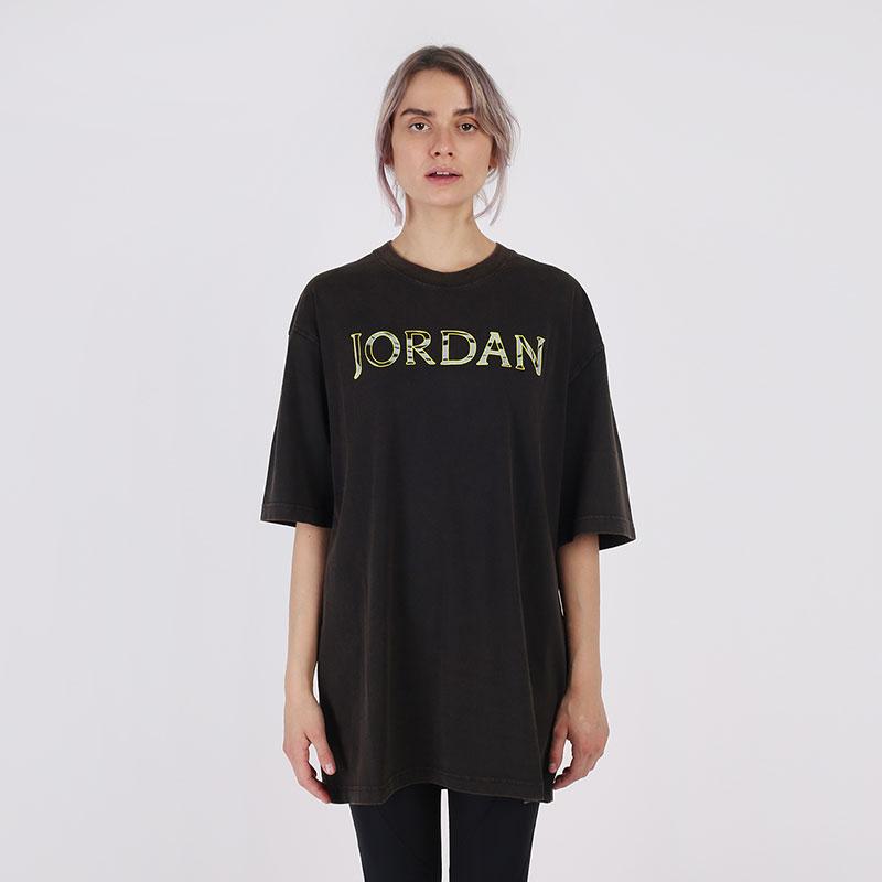 женскую чёрную  футболка jordan utility t-shirt CV7443-010 - цена, описание, фото 1