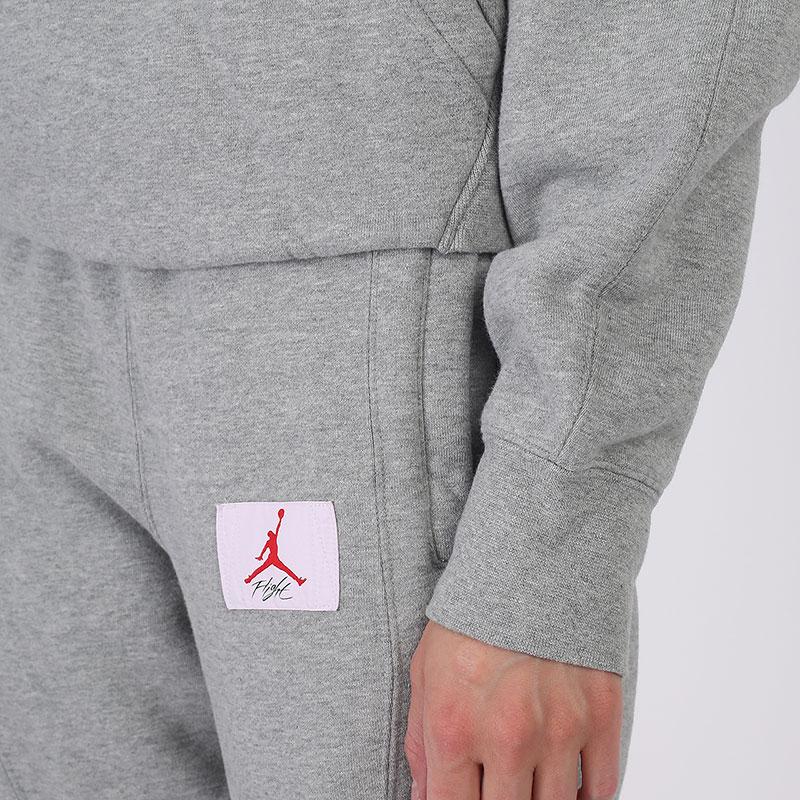 женскую серую  толстовка jordan flight fleece pullover hoodie CV7737-063 - цена, описание, фото 5