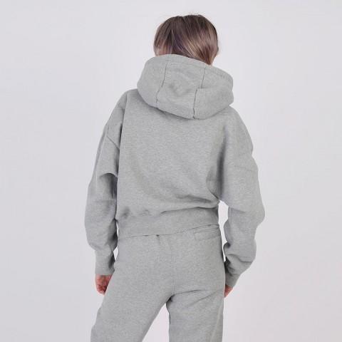 женскую серую  толстовка jordan flight fleece pullover hoodie CV7737-063 - цена, описание, фото 2