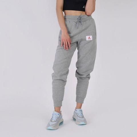 женские серые  брюки jordan flight fleece CV7795-063 - цена, описание, фото 1