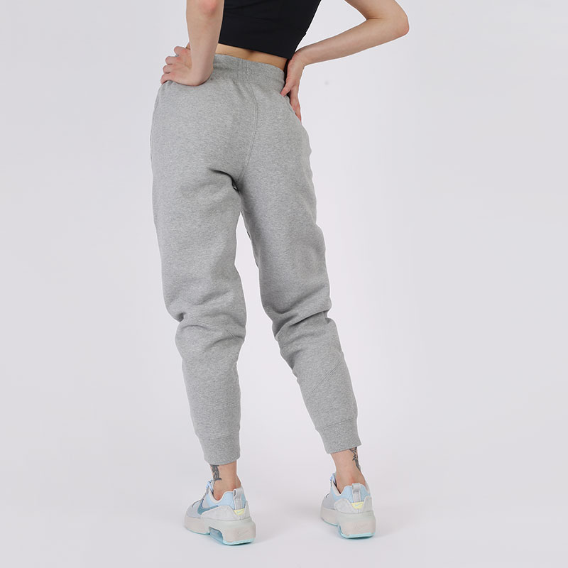 женские серые  брюки jordan flight fleece CV7795-063 - цена, описание, фото 4