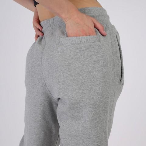 женские серые  брюки jordan flight fleece CV7795-063 - цена, описание, фото 6