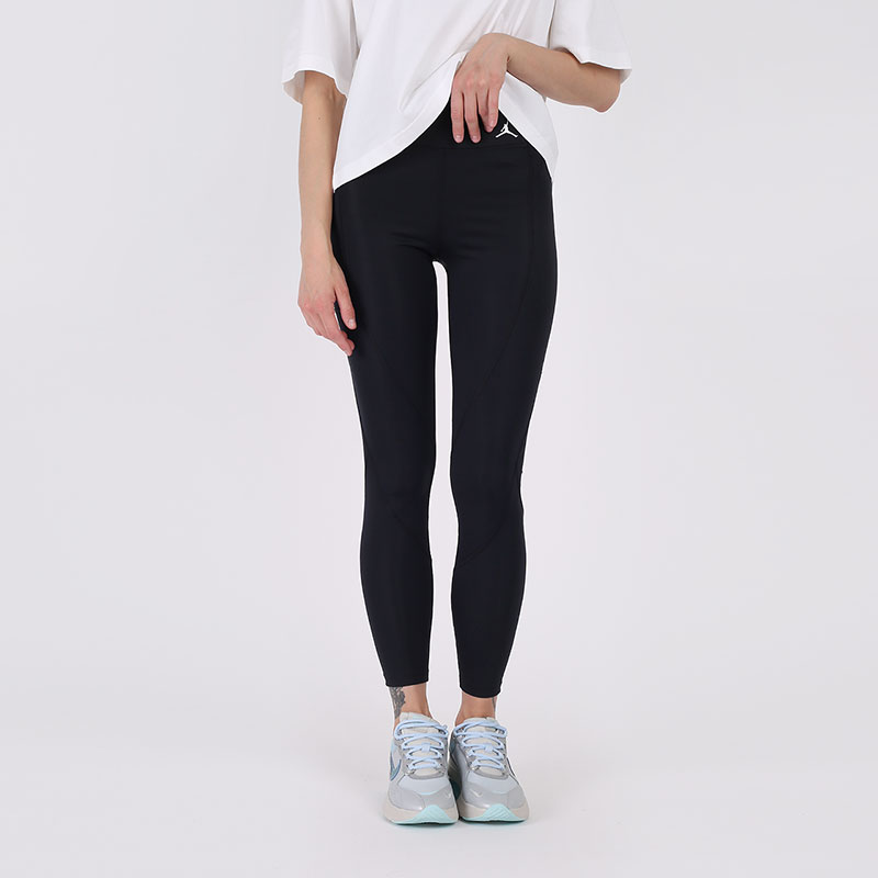 женские чёрные  тайтсы jordan essential 7/8 leggings CU6360-010 - цена, описание, фото 1