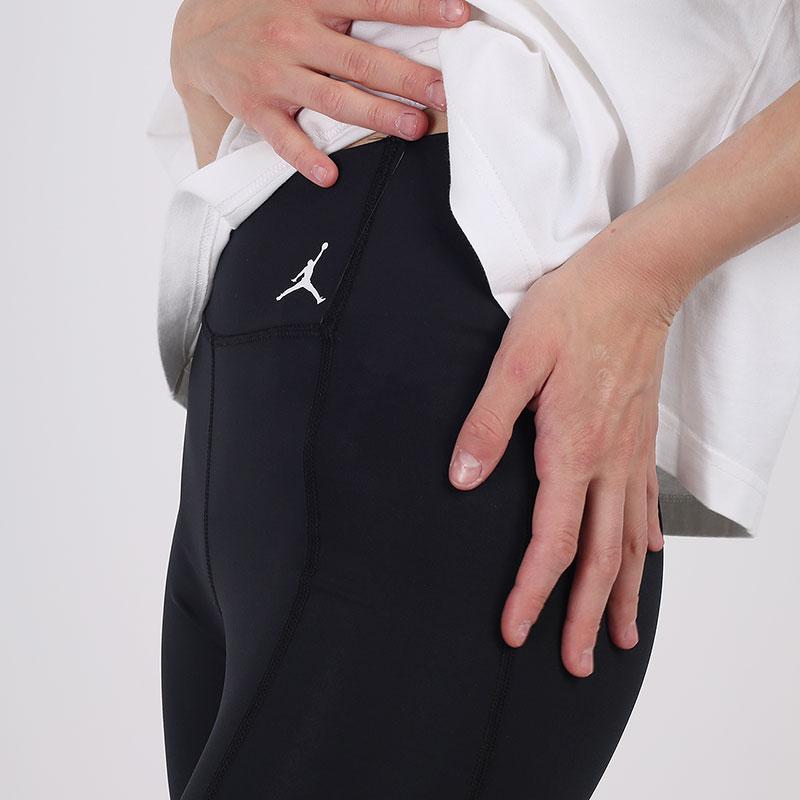 женские чёрные  тайтсы jordan essential 7/8 leggings CU6360-010 - цена, описание, фото 3