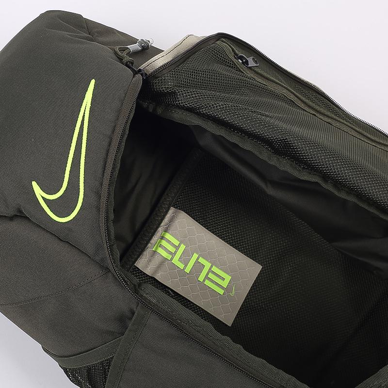 зелёный  рюкзак nike elite pro CK4237-325 - цена, описание, фото 8