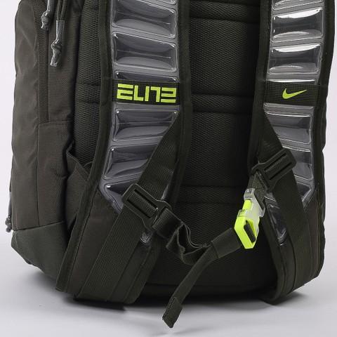 зелёный  рюкзак nike elite pro CK4237-325 - цена, описание, фото 7