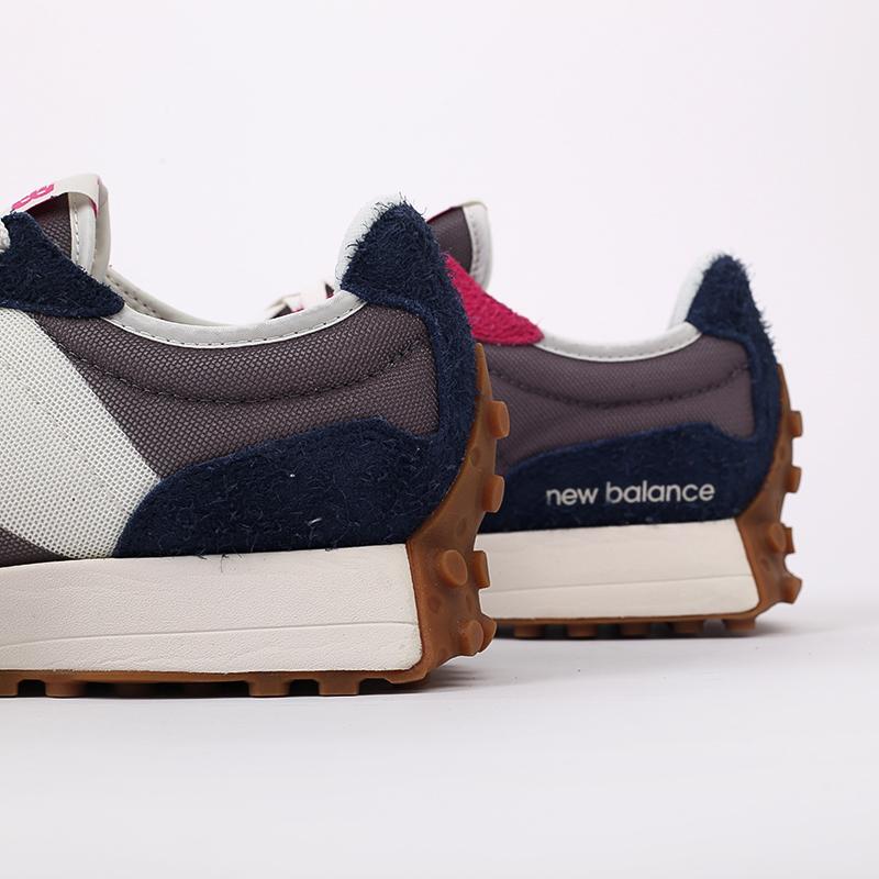 мужские разноцветные  кроссовки new balance 327 MS327SFB/D - цена, описание, фото 4