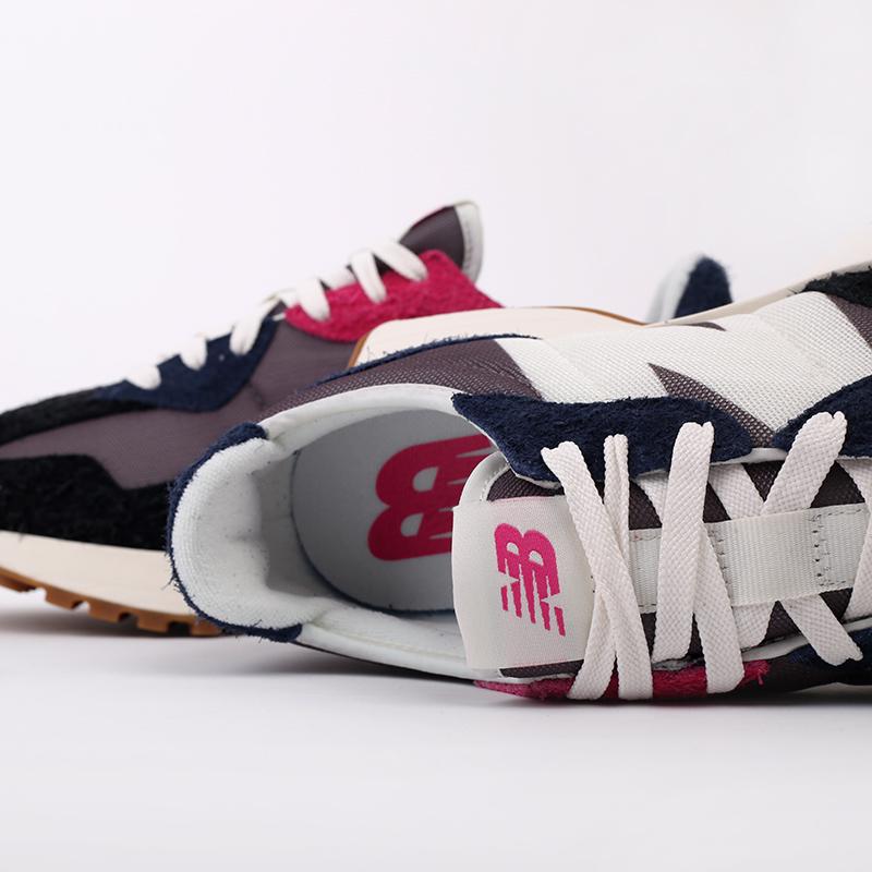 мужские разноцветные  кроссовки new balance 327 MS327SFB/D - цена, описание, фото 6