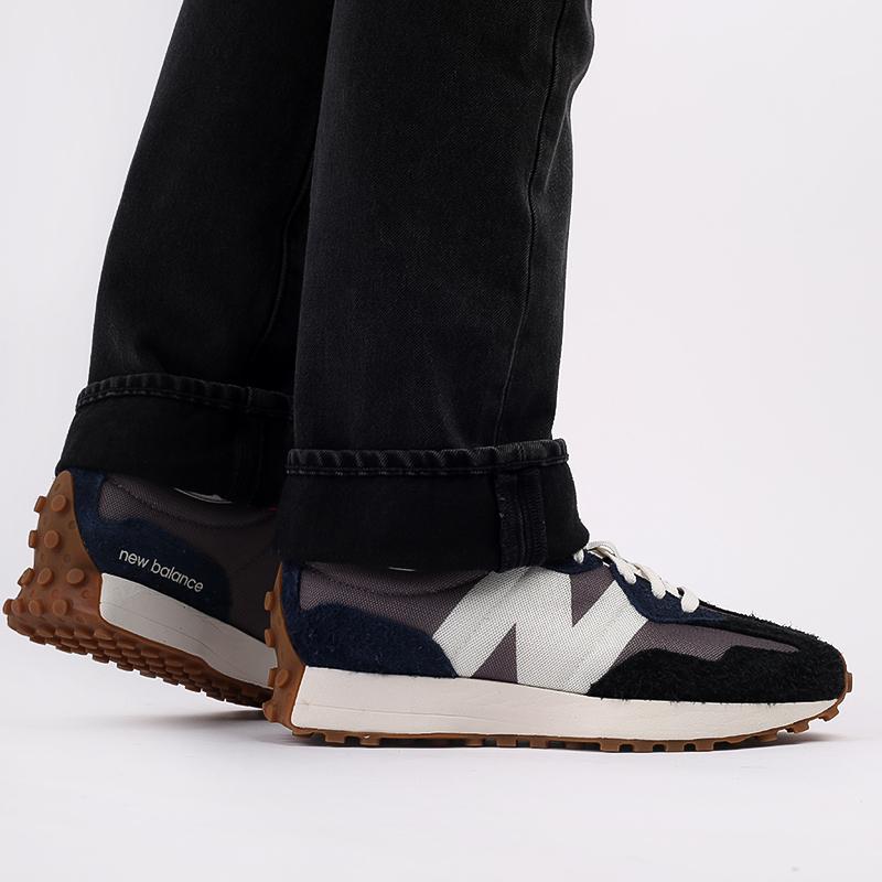 мужские разноцветные  кроссовки new balance 327 MS327SFB/D - цена, описание, фото 9