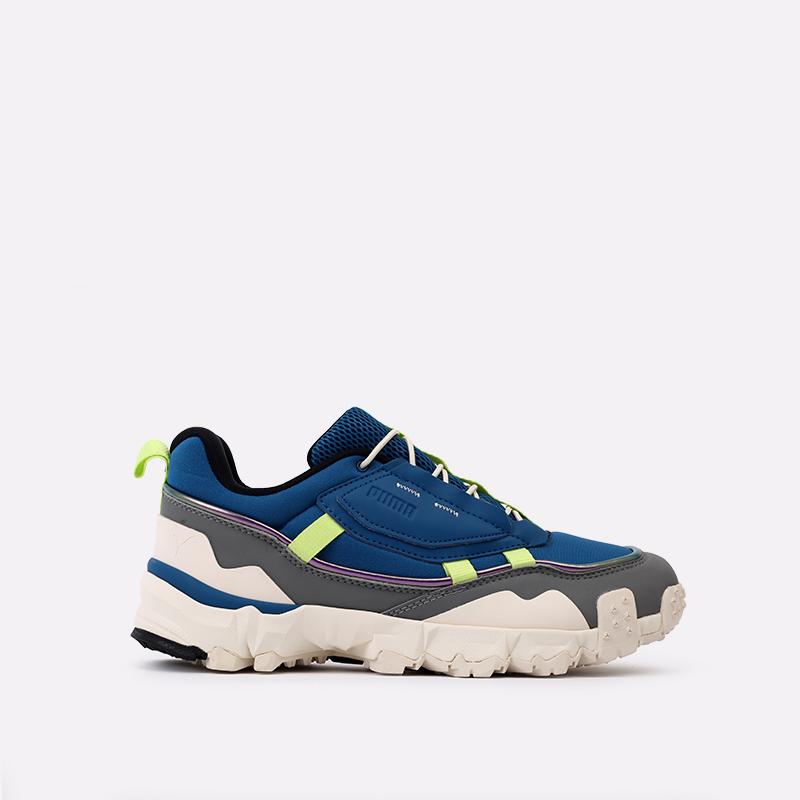 мужские синие  кроссовки puma trailfox overland mts ird 37340902 - цена, описание, фото 1