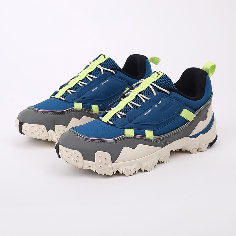 мужские синие  кроссовки puma trailfox overland mts ird 37340902 - цена, описание, фото 2